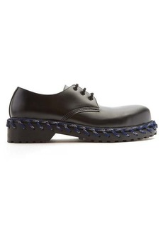 Balenciaga Derby rope lace leather shoes
