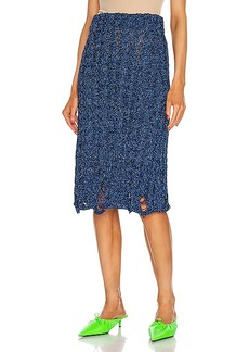 Balenciaga Destroy Knit Skirt