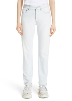 Balenciaga Destroyed Hem Straight Leg Jeans (Ice)