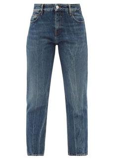 Balenciaga Distressed cropped straight-leg jeans