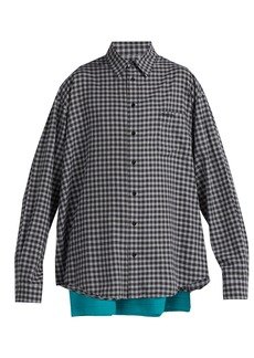 Balenciaga Double-layer cotton shirt