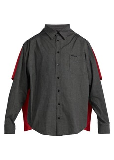 Balenciaga Double-layered convertible shirt