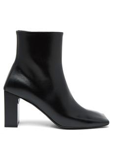Balenciaga Double Square block-heel leather boots