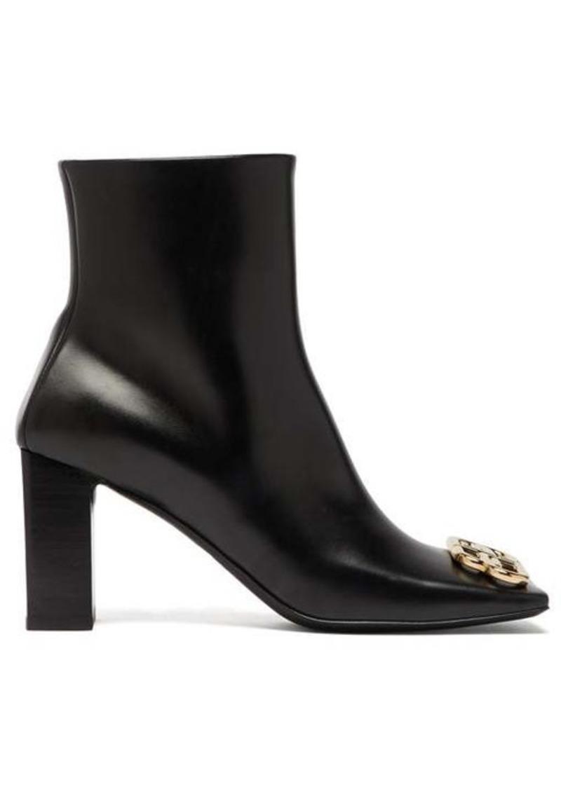 Balenciaga Double Square logo-embellished leather boots