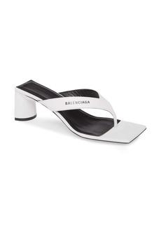 Balenciaga Double Square Logo Sandal (Women)