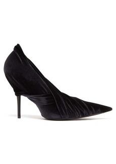 Balenciaga Drape velvet-wrap pumps