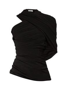 Balenciaga Draped one-shoulder jersey top