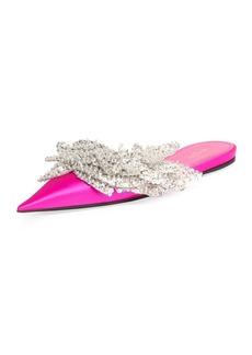 Balenciaga Embellished Pointed-Toe Flat