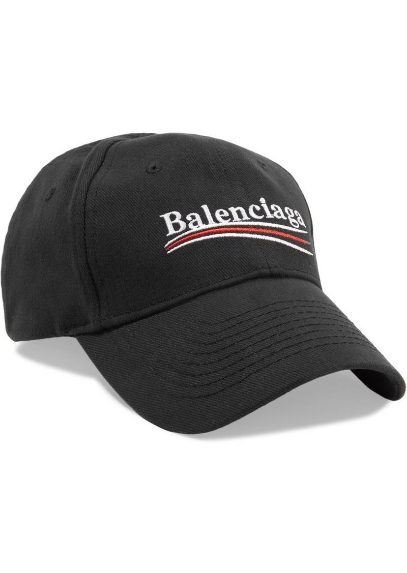e80eb1abbf9a14 Balenciaga Embroidered cotton-twill baseball cap | Misc Accessories