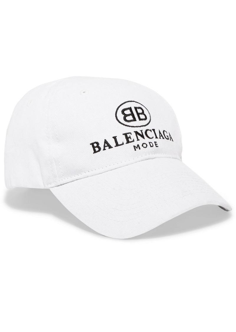 ab559e89 Balenciaga Balenciaga Embroidered cotton-twill baseball cap | Misc ...