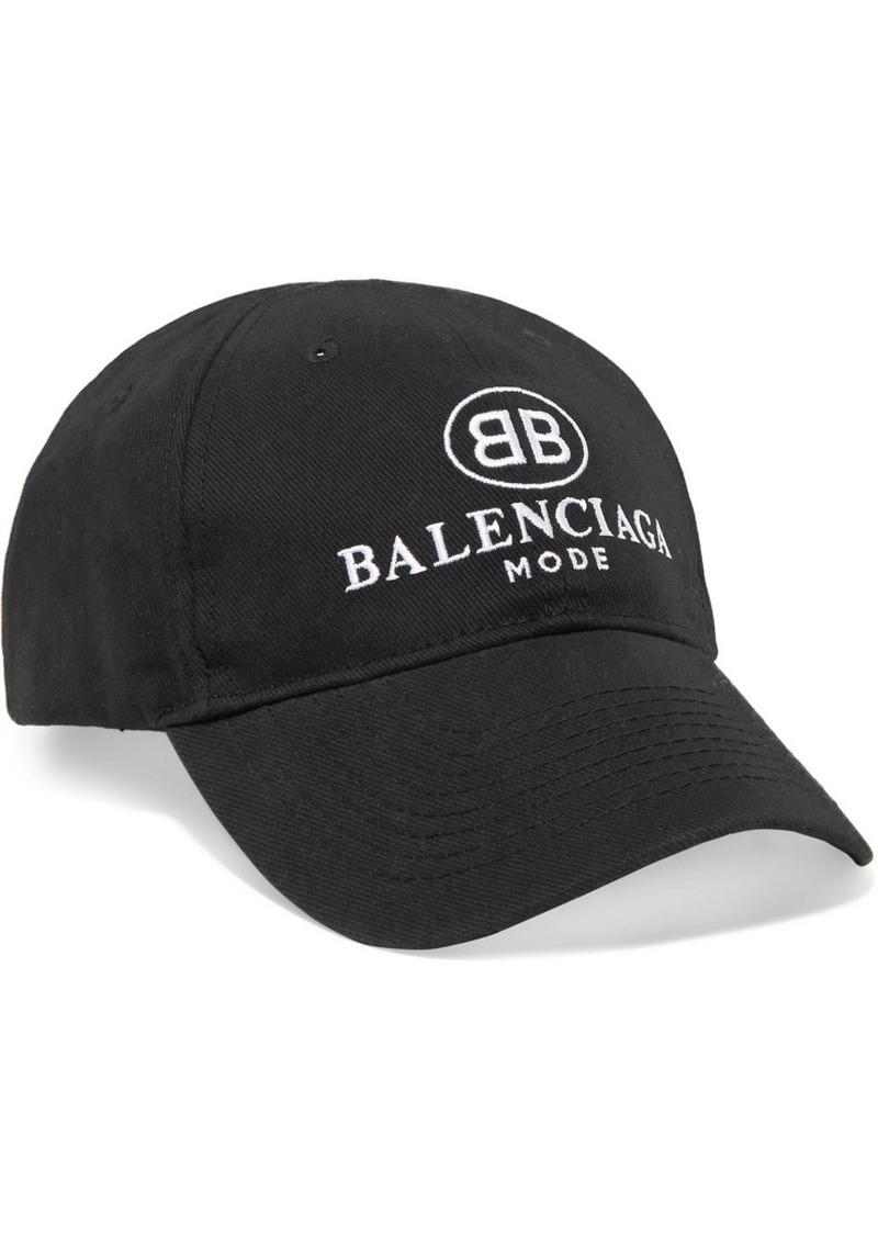 Casquette De Baseball Coton Sergé Brodé - Noir Balenciaga EyVBnXb