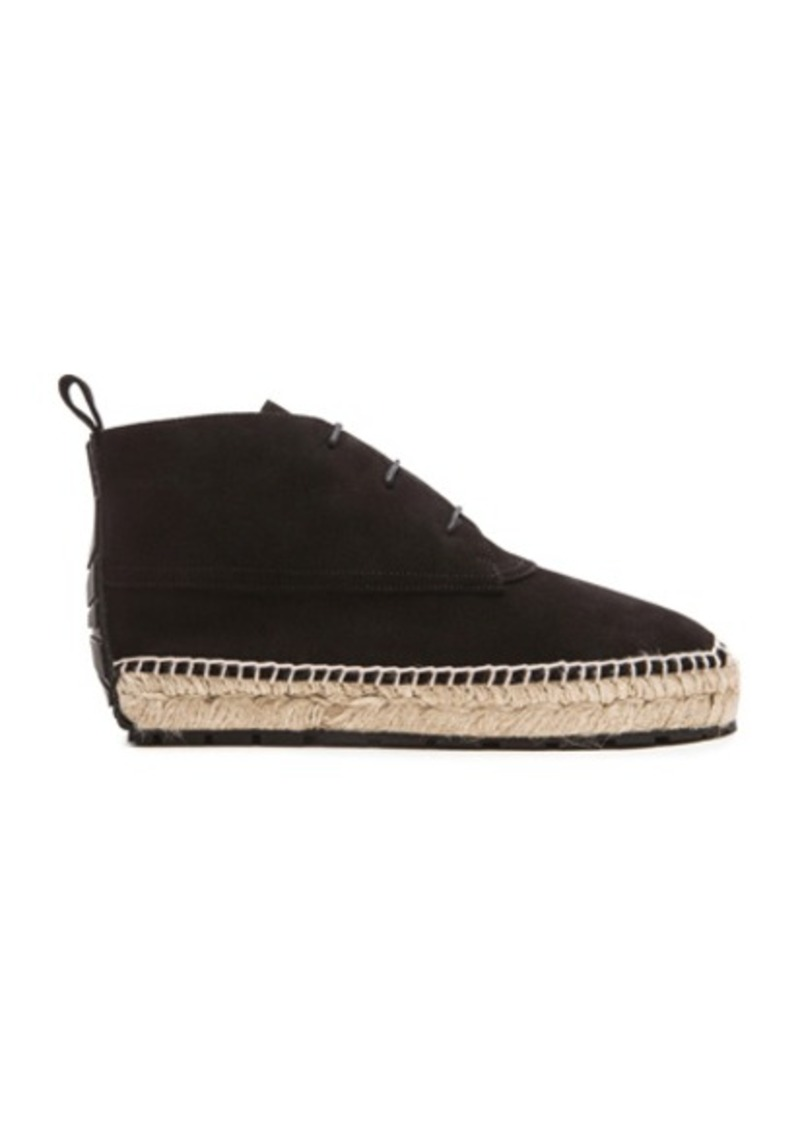 Balenciaga Espadrille Suede Ankle Boots