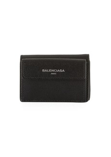 Balenciaga Essential Mini Leather Flap Wallet