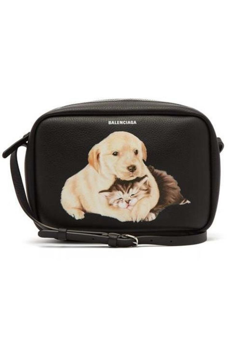 Balenciaga Everyday Camera XS animal-print cross-body bag
