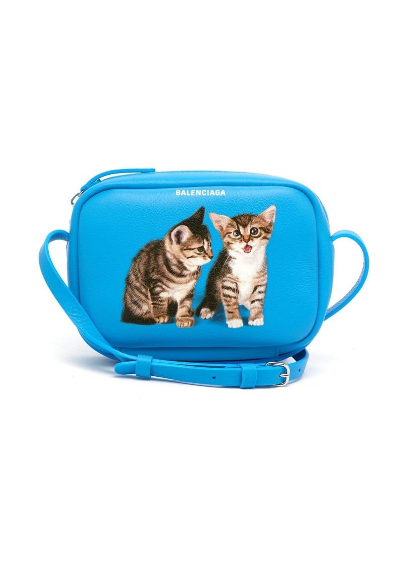 Balenciaga Everyday Camera XS kitten-print cross-body bag