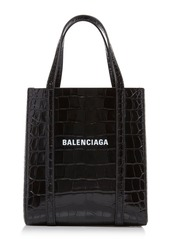 Balenciaga Everyday Croc-Effect Patent Tote