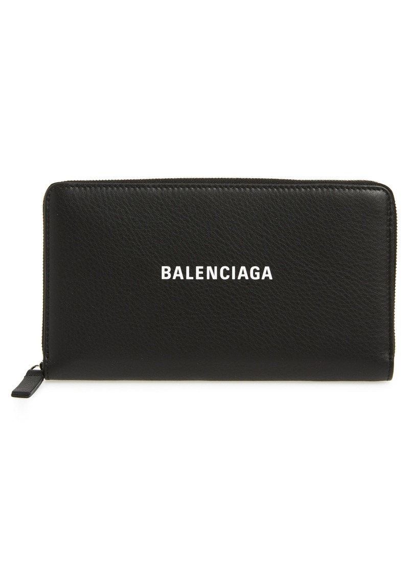 Balenciaga Everyday Leather Accordion Wallet