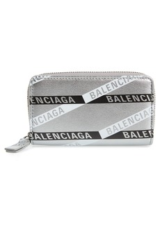 Balenciaga Everyday Leather Zip Around Card Case