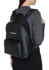 Balenciaga Everyday Logo Calfskin Leather Backpack