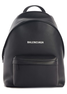 Balenciaga Everyday Logo Calfskin Leather Backpack