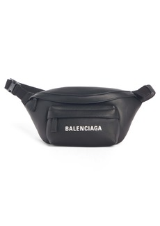 Balenciaga Everyday Logo Calfskin Leather Belt Bag