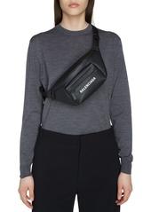 Balenciaga Everyday Logo Calfskin Leather Belt Bag