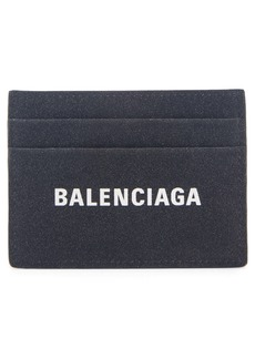 Balenciaga Everyday Logo Leather Card Case