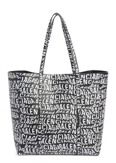 Balenciaga Everyday Logo Leather Tote