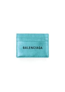 Balenciaga Everyday Metallic Leather Card Case