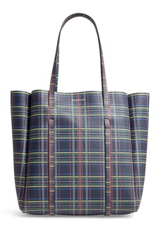 Balenciaga Everyday Plaid Calfskin Tote