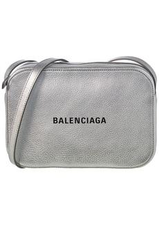 Balenciaga Everyday Xs Metallic Leather Camera Bag