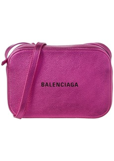 Balenciaga Everyday Xs Metallic Leather Camera Bag