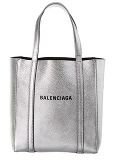 Balenciaga Everyday Xs Metallic Leather Tote