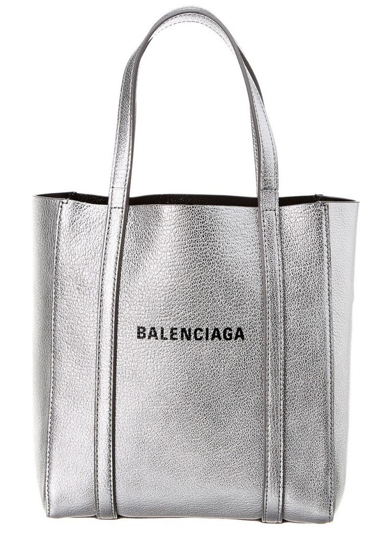 Balenciaga Everyday Xs Metallic Leather Tote