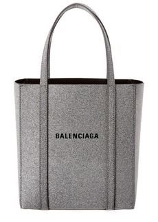 Balenciaga Everyday Xxs Metallic Leather Tote