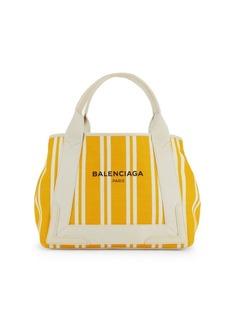 Balenciaga Expandable Striped Shopper