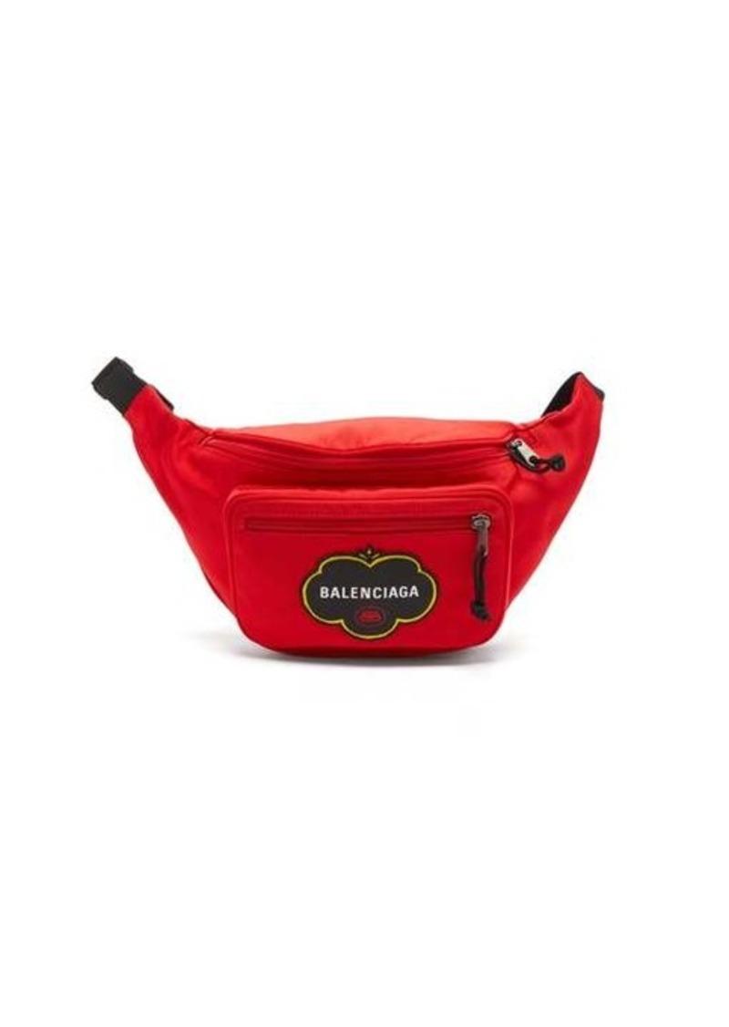 Balenciaga Explorer logo-appliqué canvas belt bag