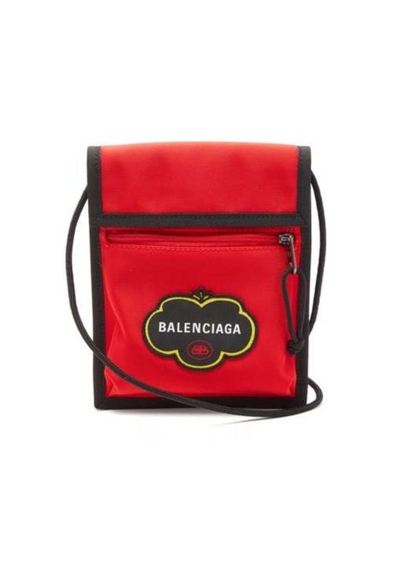 Balenciaga Explorer logo-appliqué canvas cross-body bag
