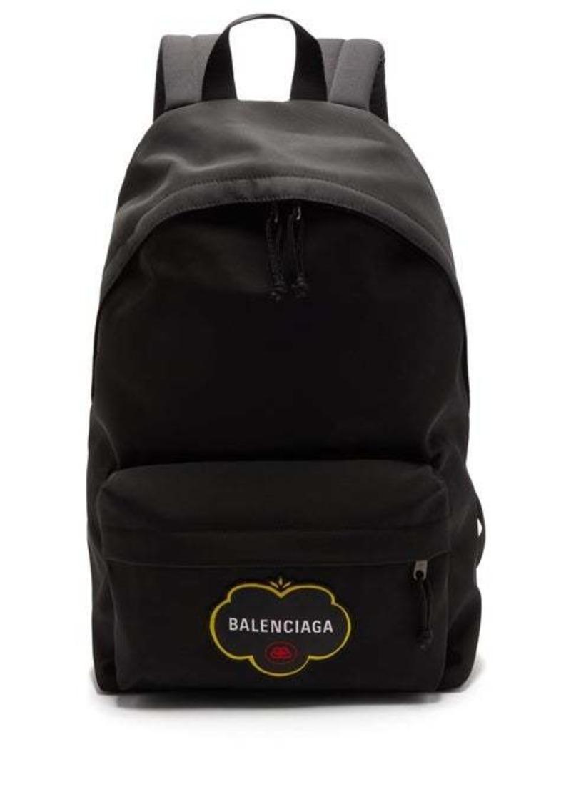 Balenciaga Explorer logo-appliqué canvas rucksack