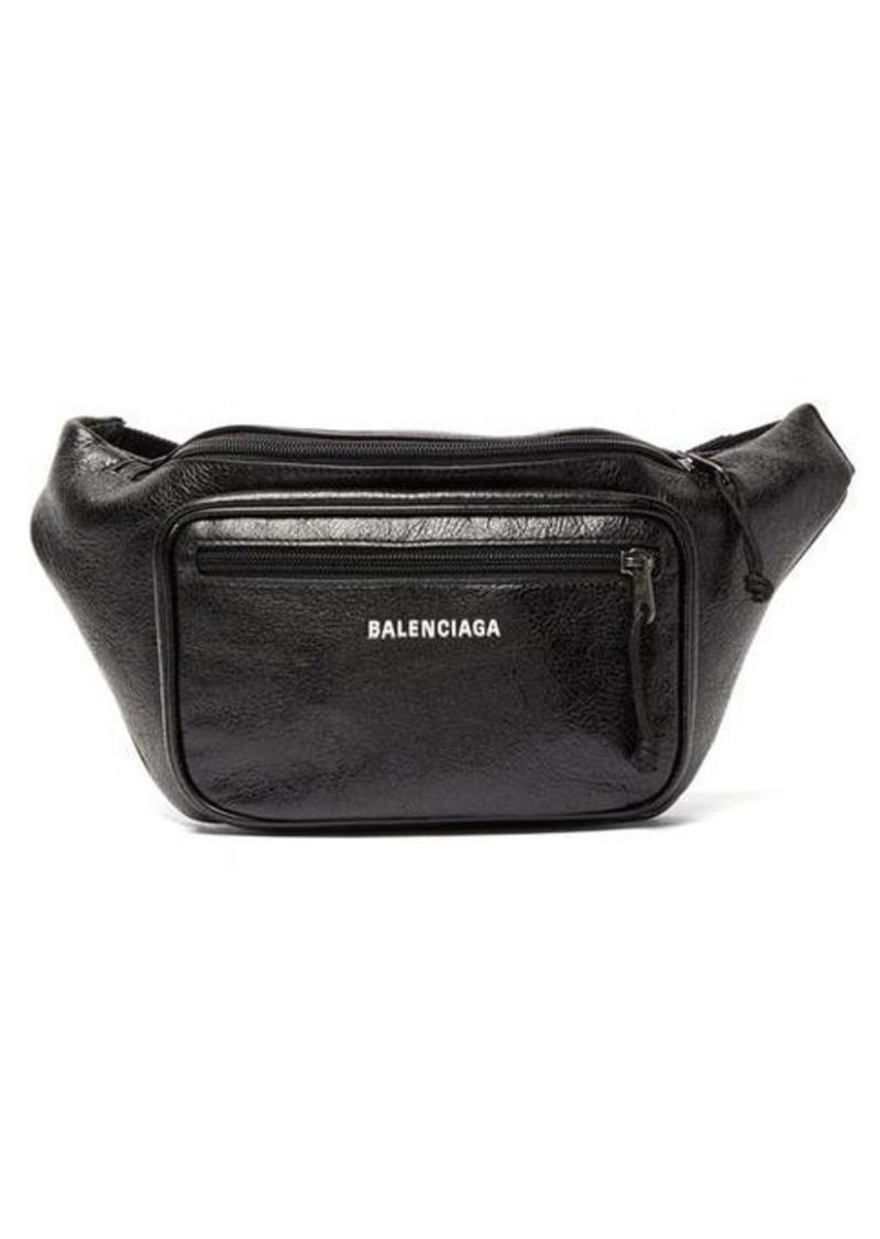 Balenciaga Explorer textured-leather belt bag