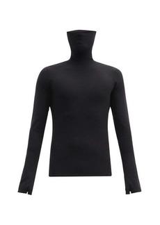 Balenciaga Extended roll-neck jersey top