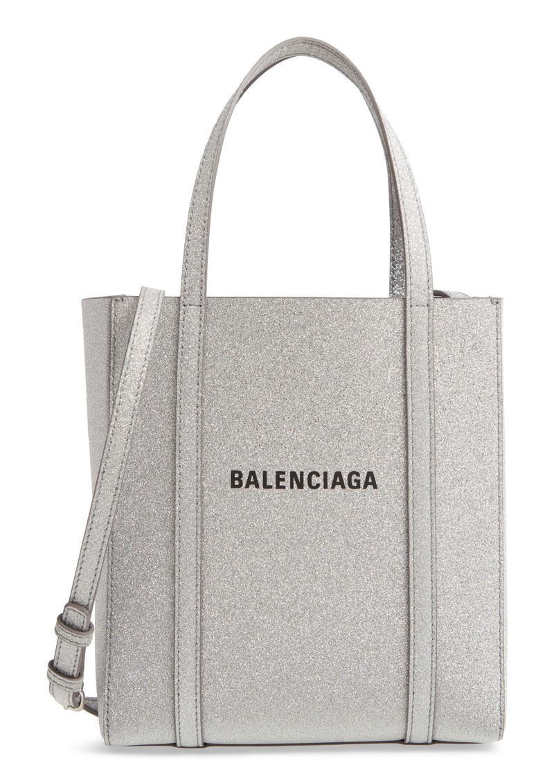 Balenciaga Extra Extra Small Everyday Glitter Leather Tote