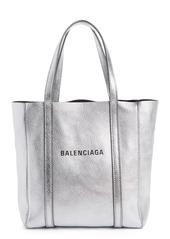 Balenciaga Extra Extra Small Everyday Logo Goatskin Tote