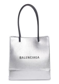 Balenciaga Extra Extra Small North/South Metallic Calfskin Shopper Tote