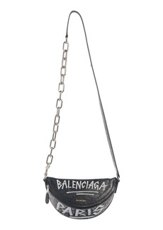 Balenciaga Extra Extra Small Souvenir AJ Logo Leather Belt Bag