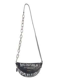 Balenciaga Extra Extra Small Souvenir AJ Logo Leather Belt Bag