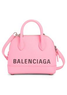 Balenciaga Extra Extra Small Vile Logo Calfskin Satchel