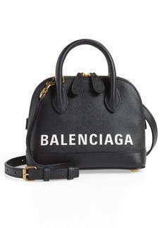 Balenciaga Extra Extra Small Ville Calfskin Top Handle Dome Satchel