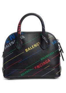 Balenciaga Extra Extra Small Ville Logo Calfskin Satchel
