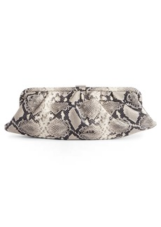 Balenciaga Extra Large Cloud Python Embossed Leather Clutch